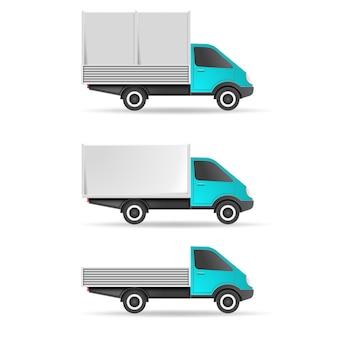 Bestelwagen pick-up en tent