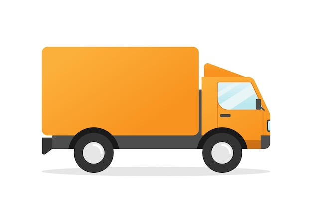 Bestelwagen plat ontwerp
