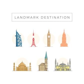Bestemming van de landmark reis
