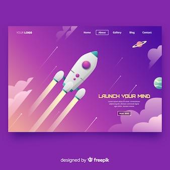 Bestemmingspagina met een raket