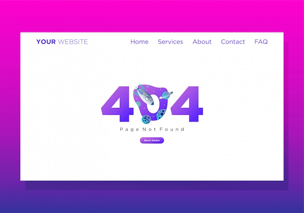 Bestemmingspagina sjabloon 404 erorr