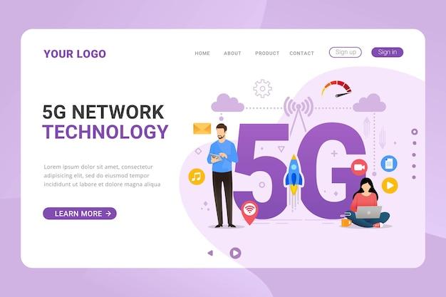 Bestemmingspagina sjabloon netwerk hoge snelheid vijf g-verbinding
