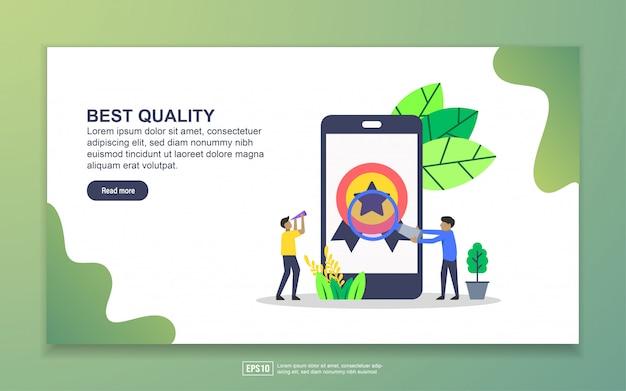 Bestemmingspagina sjabloon van de beste kwaliteit. modern plat ontwerpconcept webpaginaontwerp voor website en mobiele website