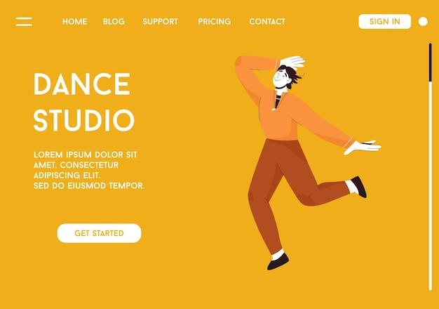 Bestemmingspagina van het dance studio-concept