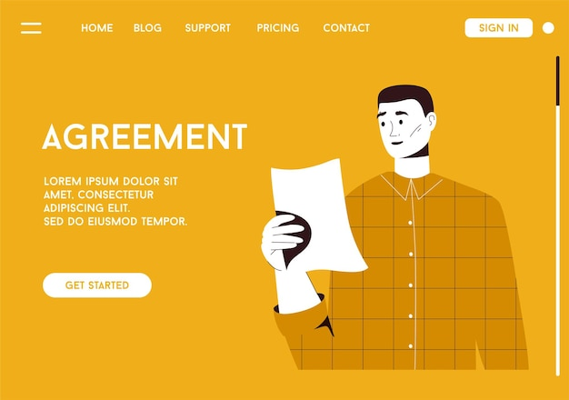 Bestemmingspagina van overeenkomstconcept