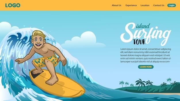 Bestemmingspagina van surfpagina