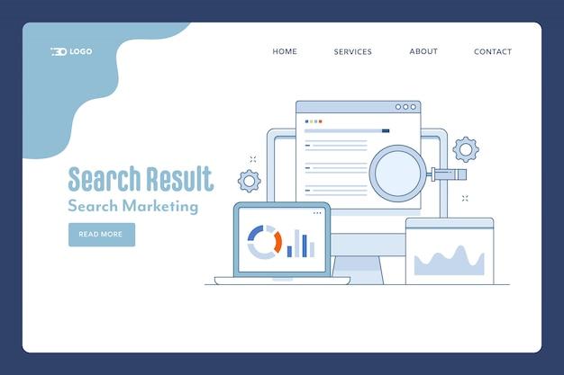 Bestemmingspagina van zoekresultaten