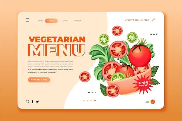 Bestemmingspagina voor aquarel vegetarisch eten