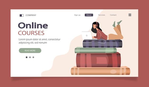 Bestemmingspagina voor online cursussen