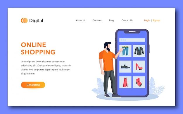Bestemmingspagina voor online winkelen