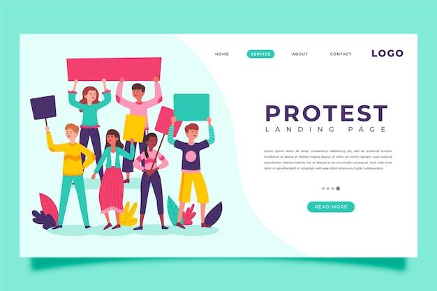 Bestemmingspagina voor proteststaking