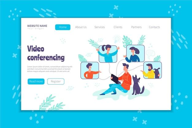 Bestemmingspagina voor videoconferentieconcept