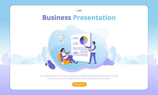 Bestemmingspagina voor zakelijke presentatie