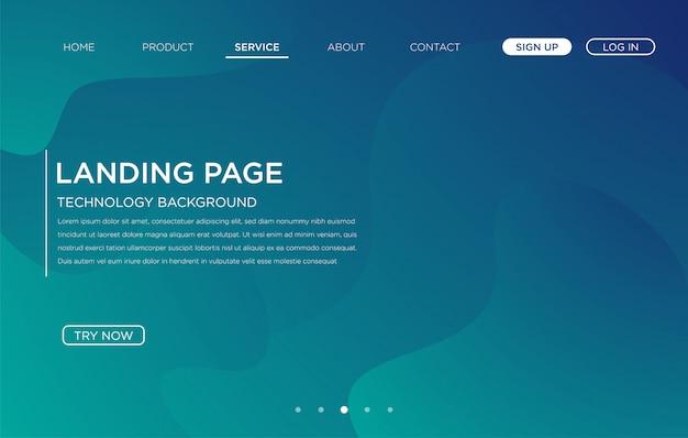 Bestemmingspagina website achtergrond sjabloonontwerp