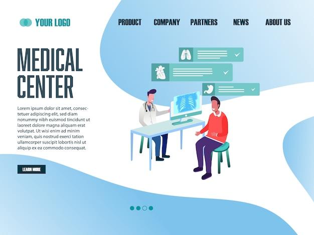 Bestemmingspagina websjabloon medisch centrum
