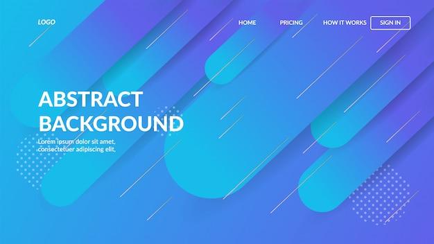 Bestemmingspagina websjabloon met dynamisch modern abstract ontwerp voor websites