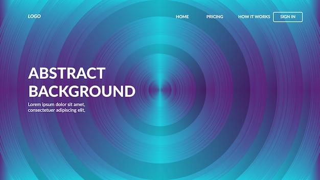 Bestemmingspagina websjabloon met moderne abstracte stijl voor websites