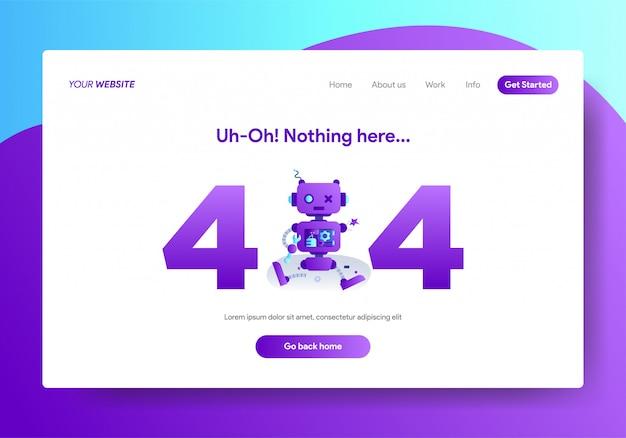 Bestemmingspaginasjabloon van 404-fout