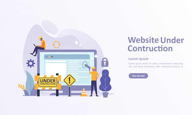 Bestemmingspaginasjabloon van website-ontwikkelaar