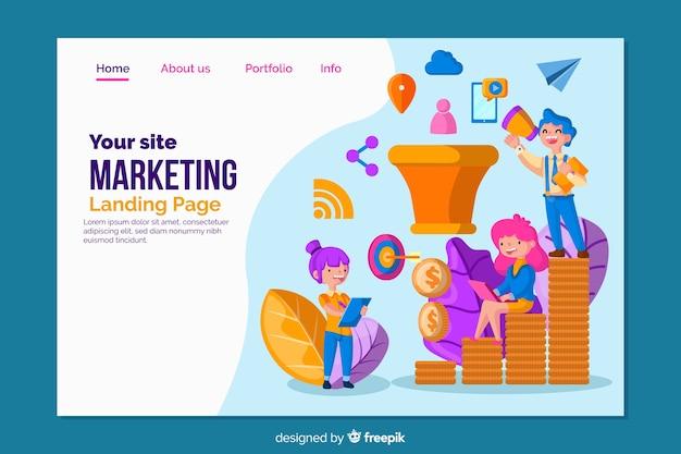 Bestemmingspaginasjabloon voor marketing