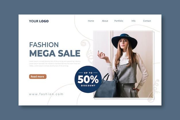 Bestemmingspaginasjabloon voor modeverkoop