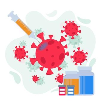 Bestrijd het viruskuurconcept