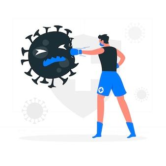 Bestrijding van coronavirus concept illustratie