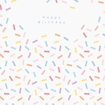 Bestrooi verjaardagswenssjabloon met witte achtergrond