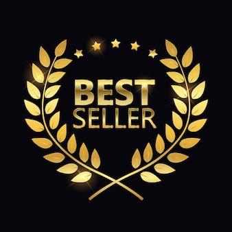 Bestseller gouden label teken