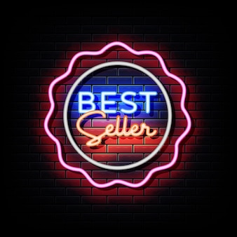 Bestseller neon signs style text