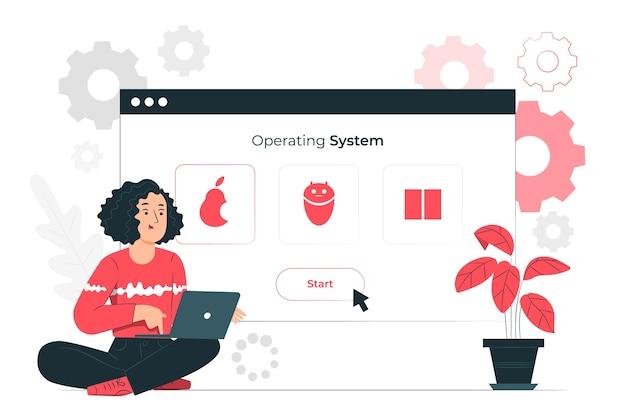 Besturingssysteem concept illustratie