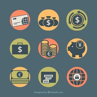 Betaalmethoden met pictogramstijl