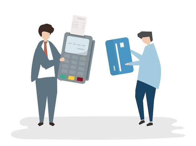 Betaling avatar illustratie