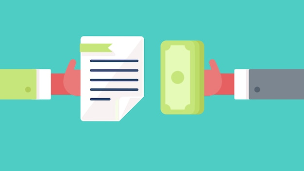 Betaling en document symbool