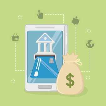 Betaling online icon set ontwerp