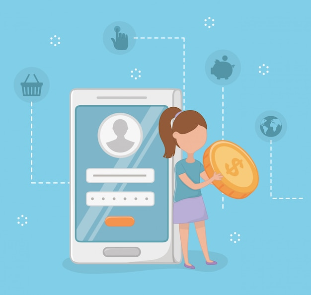 Betaling online scene