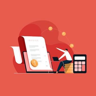 Betalingen verzenden en ontvangen met behulp van elektronische facturen, facturen opstellen en boekhoudkundig rapport