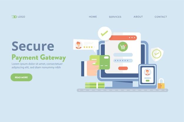 Betalingsgateway digitaal betalingsvectorconcept
