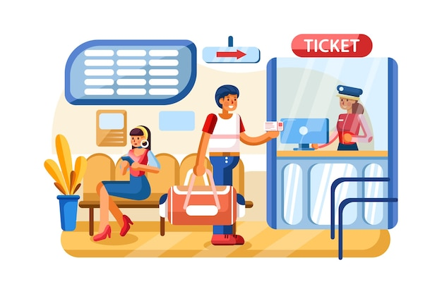 Betalingssysteem in het treinstation