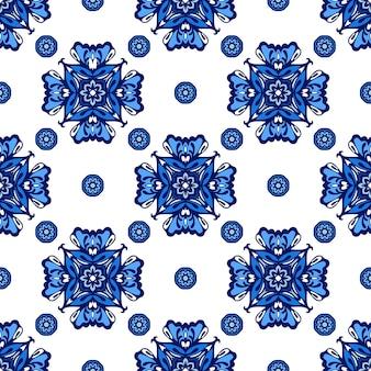 Betegeld etnisch patroon voor stof. abstracte geometrische mozaïek vintage naadloze patroon sier.