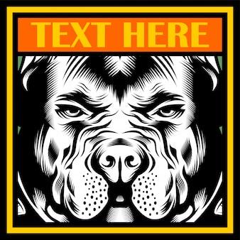 Beteken bulldog mascot illustratie vector