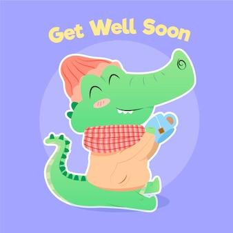 Beterschap citaat en schattige alligator