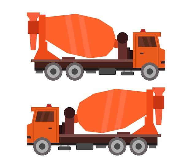Betonmixer vrachtwagen