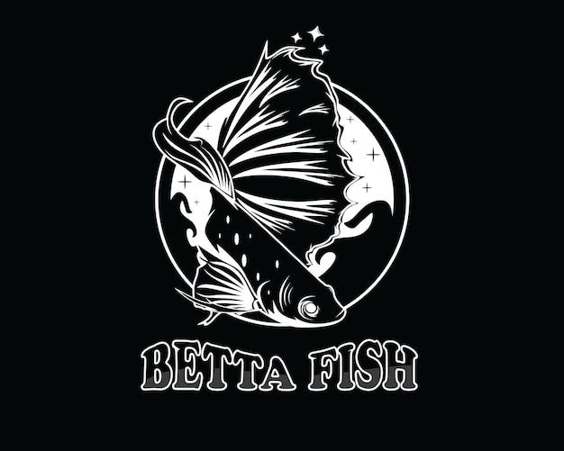 Betta vis logo ontwerp vectorillustratie