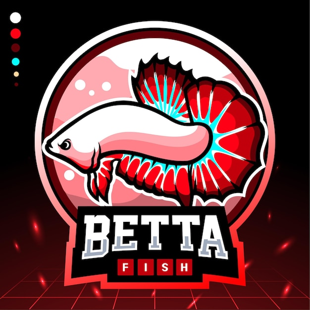 Betta vis mascotte. esport-logo