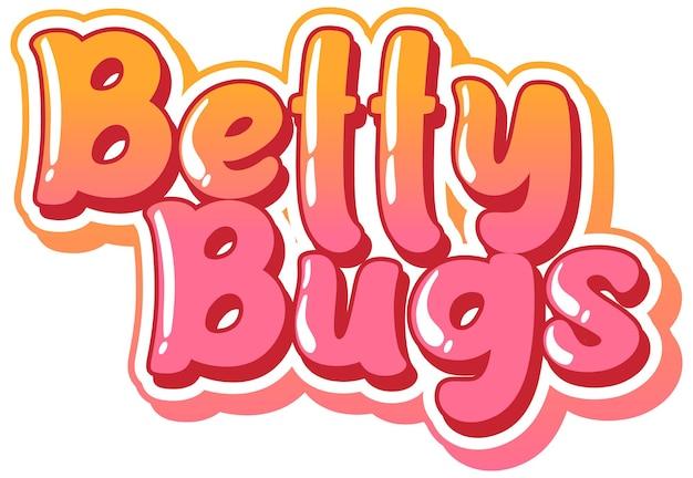 Betty bugs logo tekstontwerp