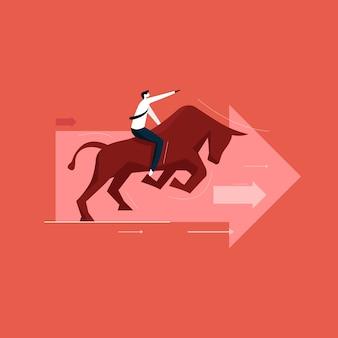 Beurs en bull market concept