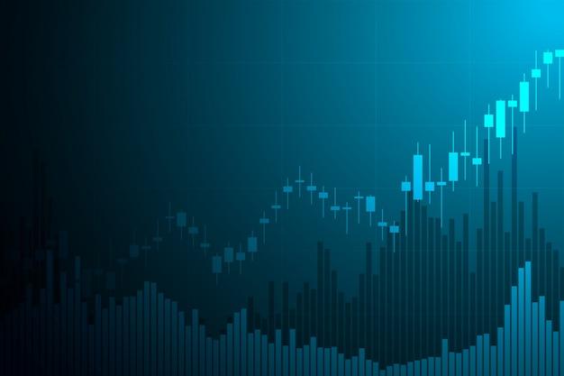 Beurs grafiek markt investering handel met wereldkaart. ruilplatform. zakelijke grafiek.