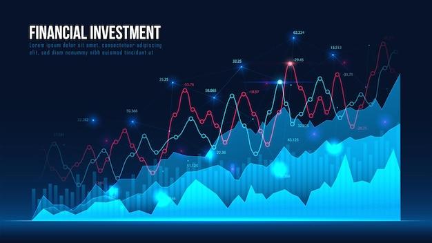 Beurs of forex trading grafiek in grafisch concept