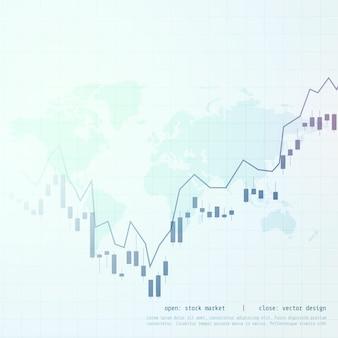 Beurs zaken kaars stok grafiek weergave achtergrond